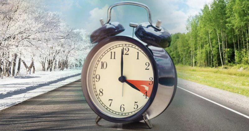 Изменение времени на зимнее время